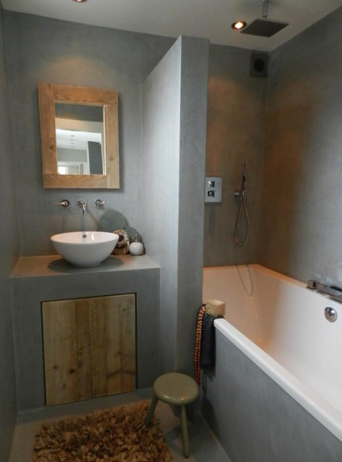 beton verven badkamer: badkamer betonlook kosten: bij renovastuc, Badkamer